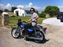 Matthew Beere at the Ranch on a 1977 Yamaha RD400